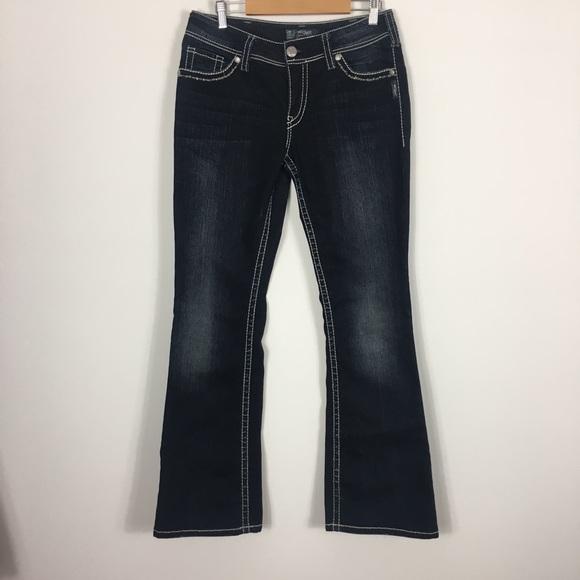 Silver Jeans Denim - Silver Dark Wash Suki Bootcut Flap Jeans
